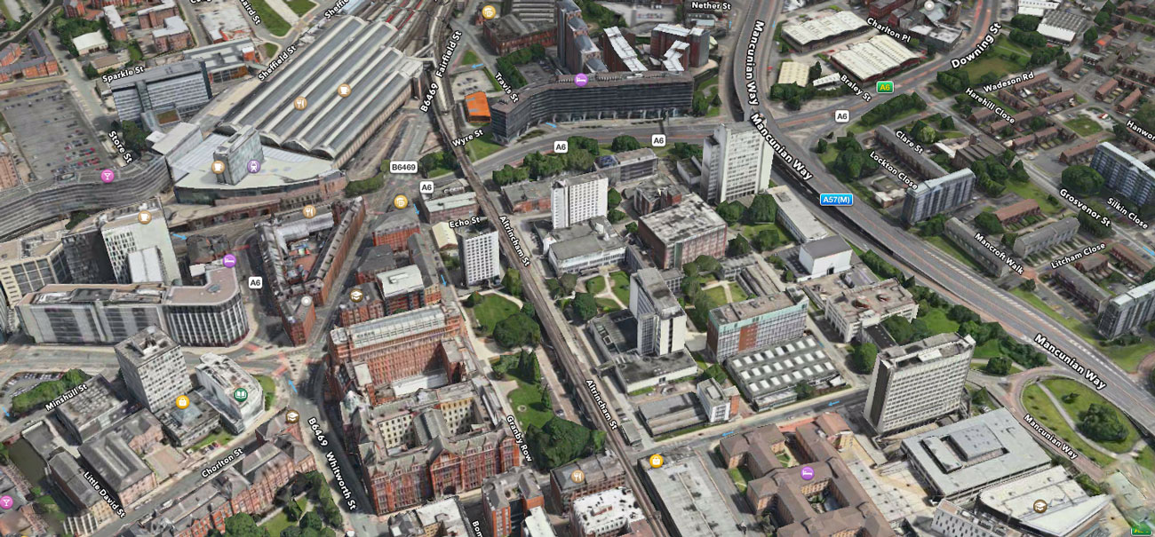 University of Manchester Map